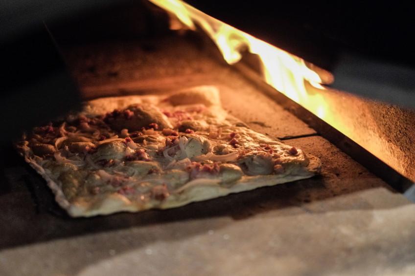 Rosa Lisbert´s Flammkuchen im Ofen